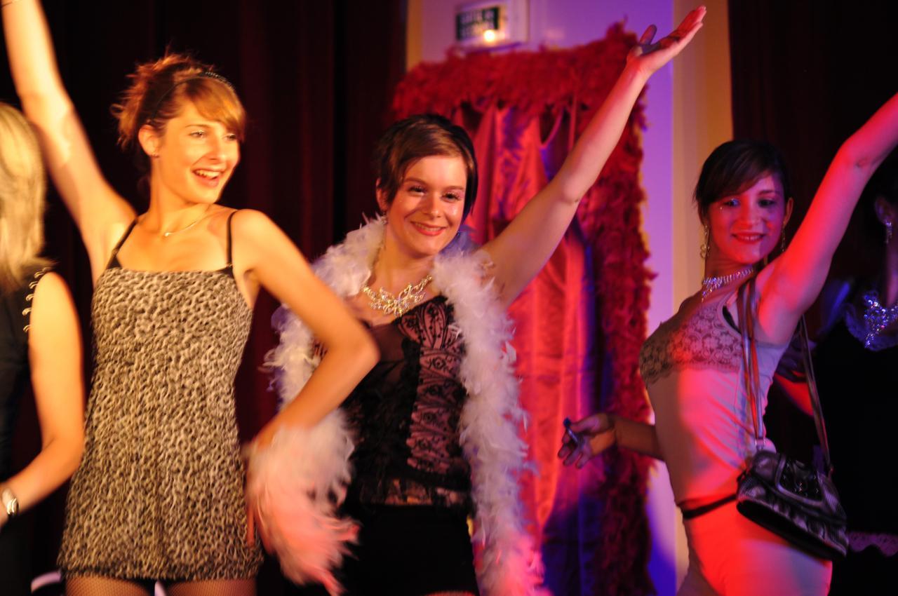 Claire, Emilie et Léa dans